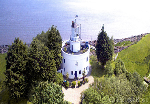 Birds eye view lighthouse